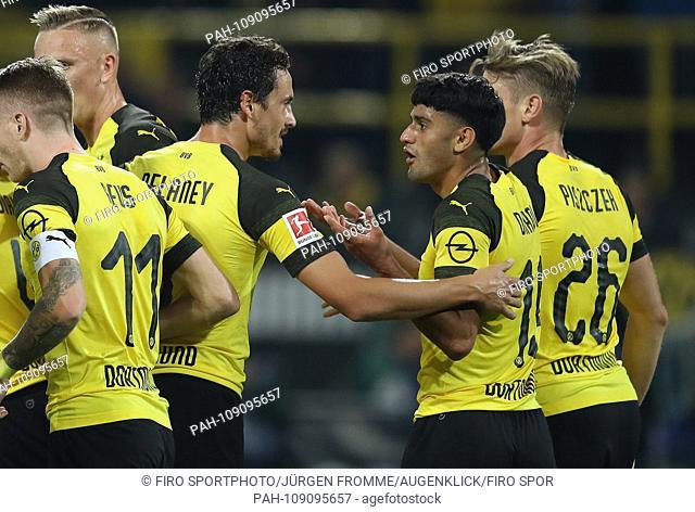 firo: 14.09.2018 Football, Football: 1.Bundesliga BVB Borussia Dortmund, BVB - Eintracht Frankfurt 3: 1, Mahmoud Dahoud, with Thomas Delaney | usage worldwide