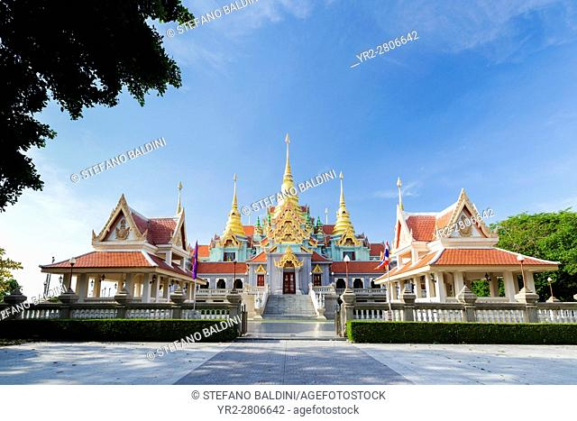 Phra Mahathat Chedi Phakdi Prakat, built for Rama IX golden jubilee to celebrate the 50th birthday of Rama IX being King of Thailand