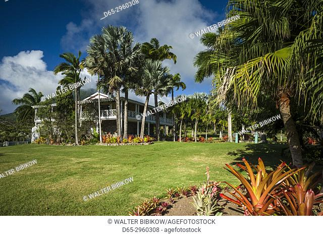 St. Kitts and Nevis, Nevis, Cole Hill, Botanical Gardens, main building