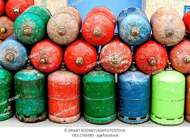 Gas Cylinders, Chefchaouen, Morocco