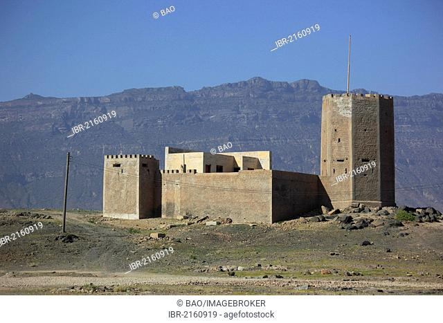 Fortress near Mirbat in the south of Oman, Arabian Peninsula, Middle East, Asia