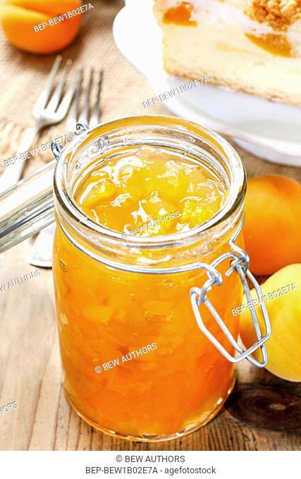 Peach jam. Healthy summer dessert