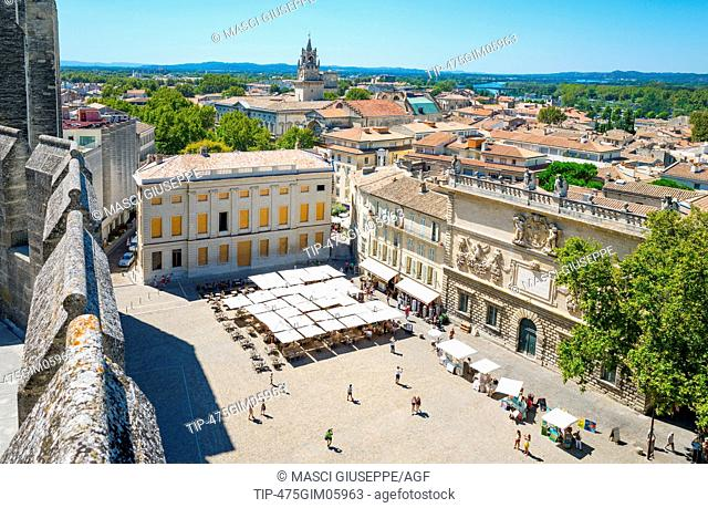 Avignon, France, View of the city from the top of the Palace of the Popes