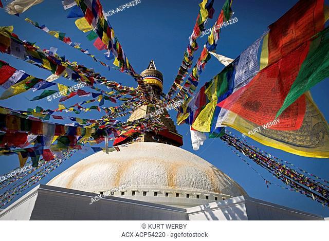 Boudhanath, is one of the holiest Buddhist sites in Kathmandu, Nepal