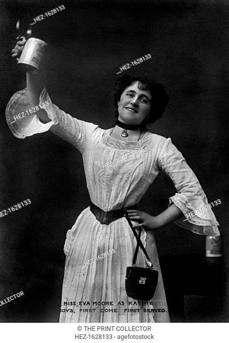 Miss Eva Moore as Kathie, 'Boys, First Come, First Served', 1903