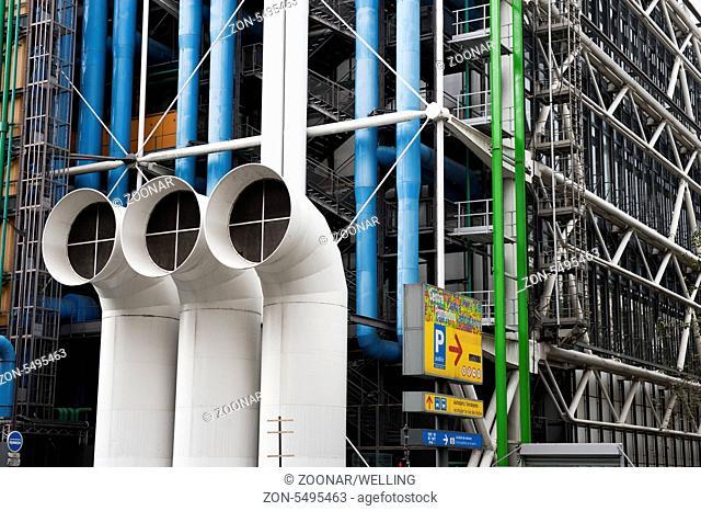Centre Pompidou, Paris, Ile de France, Frankreich France Europa Europe