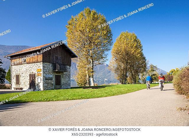 Bourget lake, Aix-les-Bains, Savoie, Rhône-Alpes, France