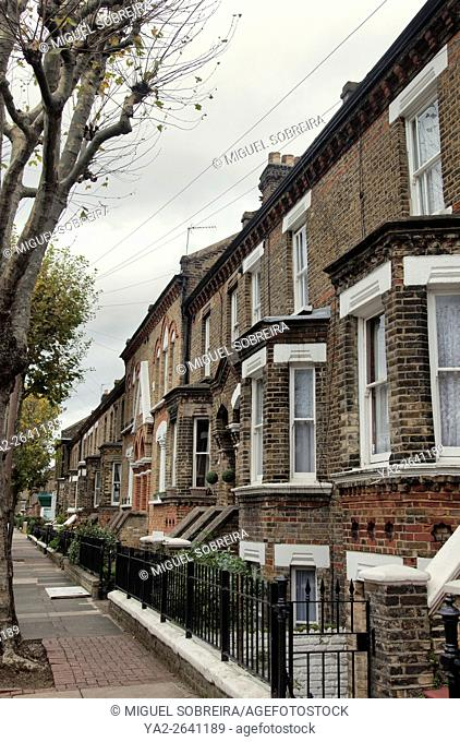 Row of Brick terraced Houses