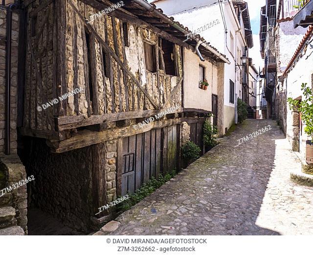 Arquitectura tradicional. Mogarraz. Sierra de Francia. Salamanca. Castilla León. España