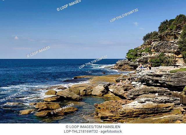 View along the Bondi to Bronte walk in Sydney