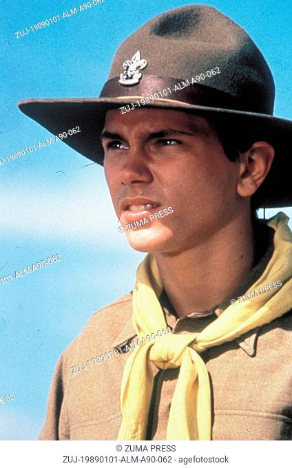 1989; Indiana Jones And The Last Crusade. Original Film Title: Indiana Jones And The Last Crusade, PICTURED: RIVER PHOENIX, Composer: John Williams