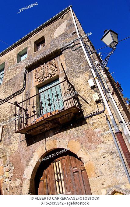 Stone Shield, Sepúlveda, Medieval Village, Segovia, Castilla y León, Spain, Europe
