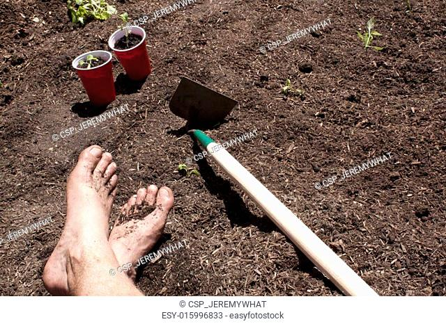Gardening with feet in the dirt