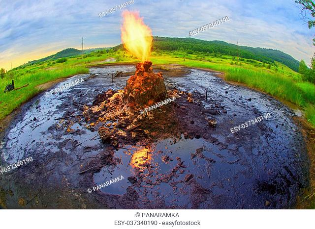 Only in the Carpathians active mud (clay and bitumen) volcano on the outskirts of the village Starunov. Formed in 1977 on the site of an old oil field after the...