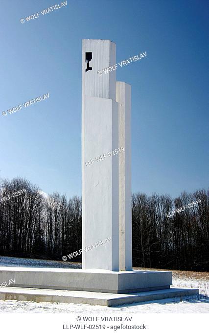 Vysoka Memorial of Hussite Battle over Tachov, the Southwestern Bohemia, Plzen region, Czech Republic