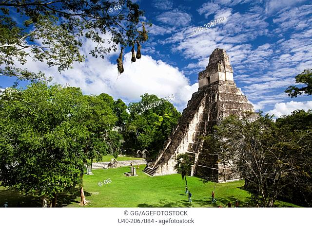 Guatemala, Tikal, Templo 1, Gran Jaguar