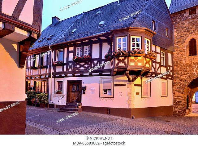 old half-timbered houses in Lord's stone at the Hunsrück