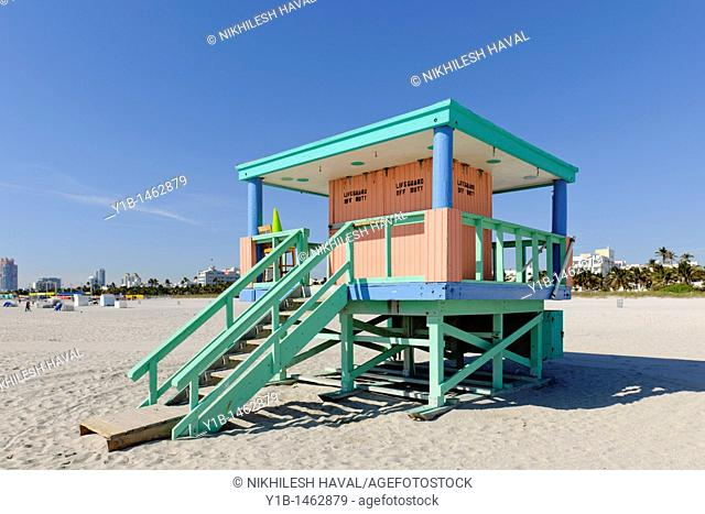 lifeguard hut, South Beach, Miami