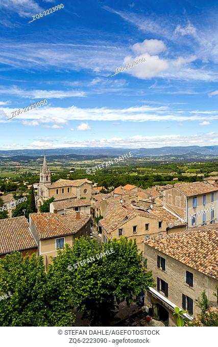 View over the Village Bonnieux,Provence, France