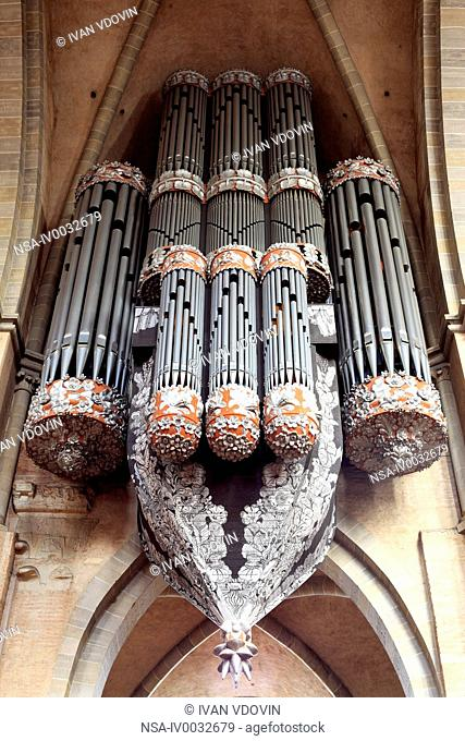 Pipe organ, Cathedral, Trier, Rhineland-Palatinate, Germany