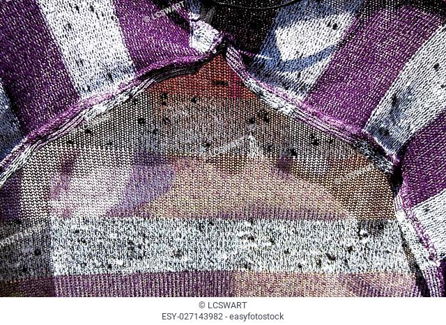 Close up abstract view of knitted garment
