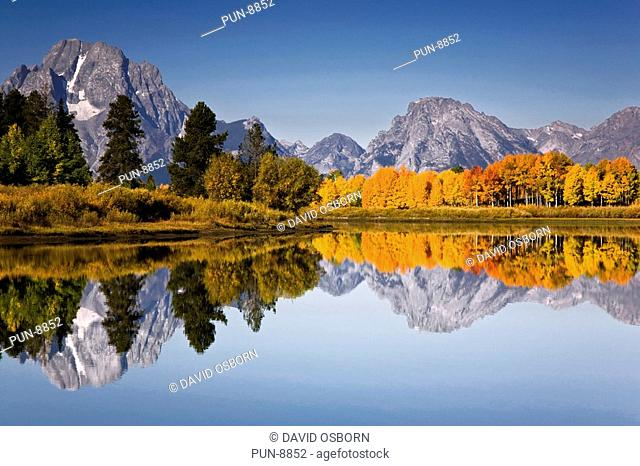 Oxbow bend on the snake river in the Grand Teton National Park