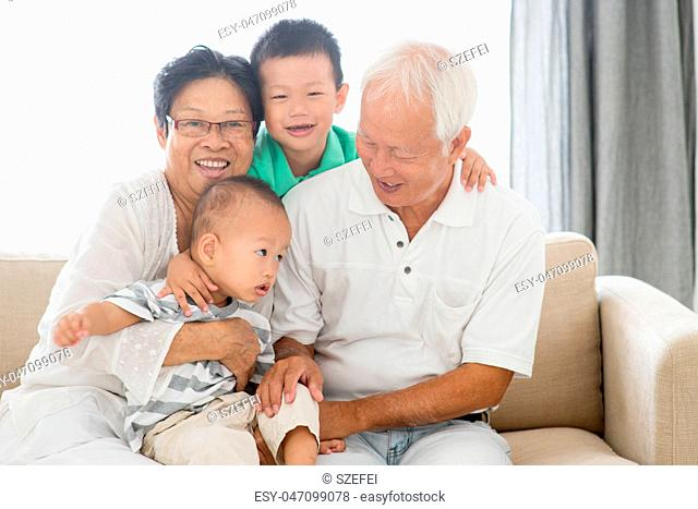 Asian grandparents and grandchildren