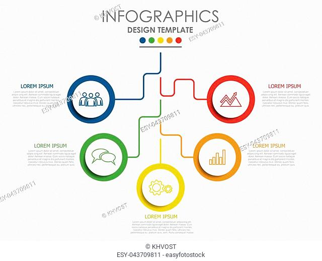 Infographic design template with place for your text. Vector illustration