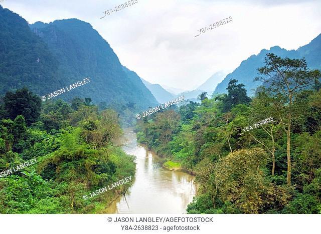 Jungle landscape in Phong Nha-Ke Bang National Park, Bo Trach District, Quang Binh Province, Vietnam
