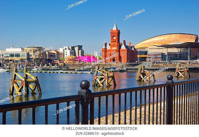 Cardiff bay landmarks, cardiff, wales
