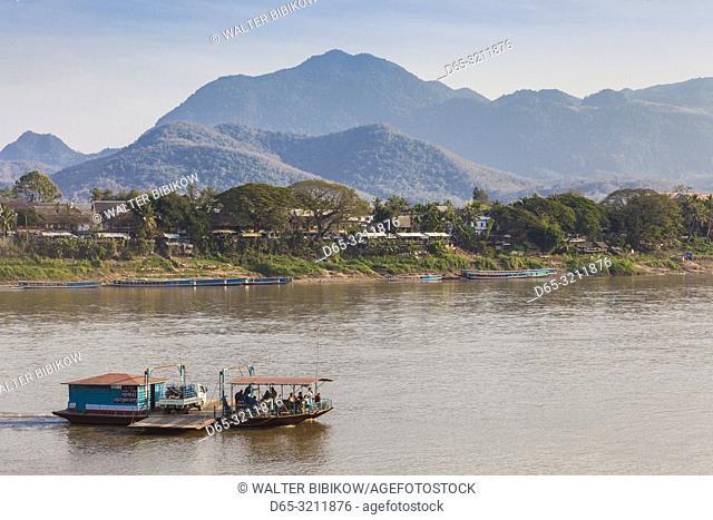 Laos, Luang Prabang, ferryboat, Mekong River