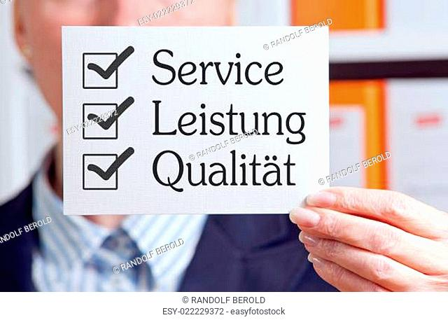 Service - Leistung - Qualität