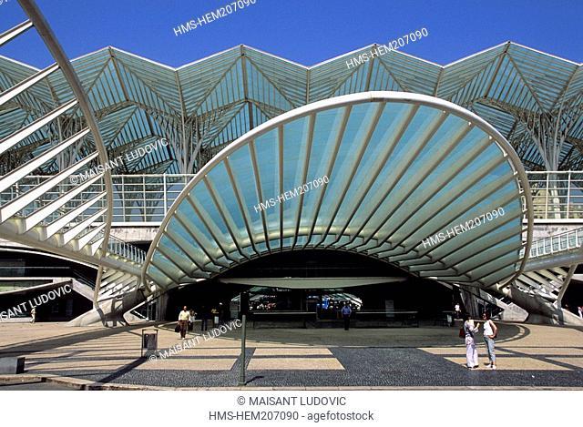 Portugal, Lisbon, Nations Park, Estaçao do Oriente Oriental Station, built by Spanish architect Santiago Calatrava for the 1998 Universal Exhibition