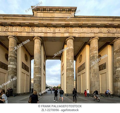 Brandenburg Gate (Brandenburger Tor), Berlin Germany - Former city gate, rebuilt in the late 18th century