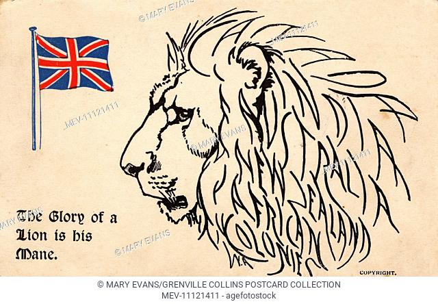The British Empire - The mane of the Lion names the principal territories