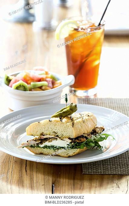 Chicken mozzarella sandwich