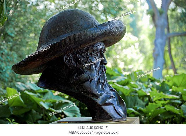 Bust of the painter Claude Monet