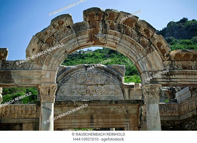 Excavation, excavation site, building, curve, Ephesos, Ephesus, Hadrian, Hadrian temple, province Izmir, Roman empire, place of interest, landmark, temple