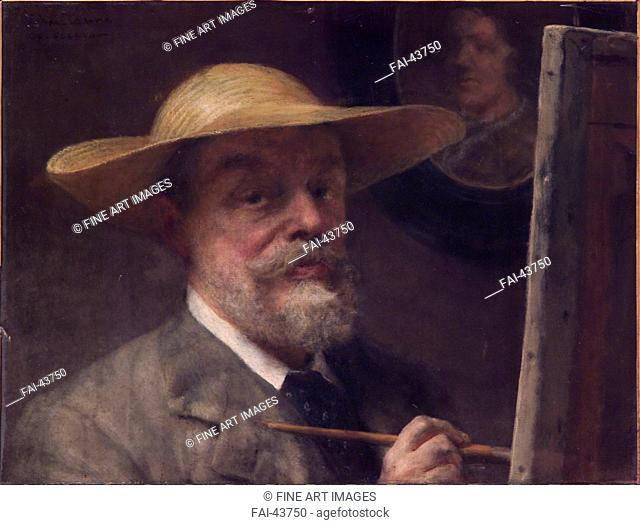 Self-portrait by Alma-Tadema, Sir Lawrence (1836-1912)/Oil on canvas/Pre-Raphaelite paintings/Early 20th cen./Great Britain/Accademia di San Luca/45,5x61