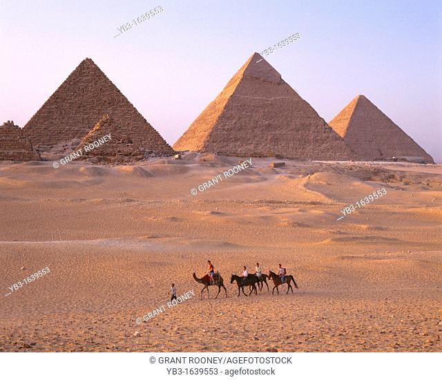 Horse riding, The Pyramids, Cairo, Egypt