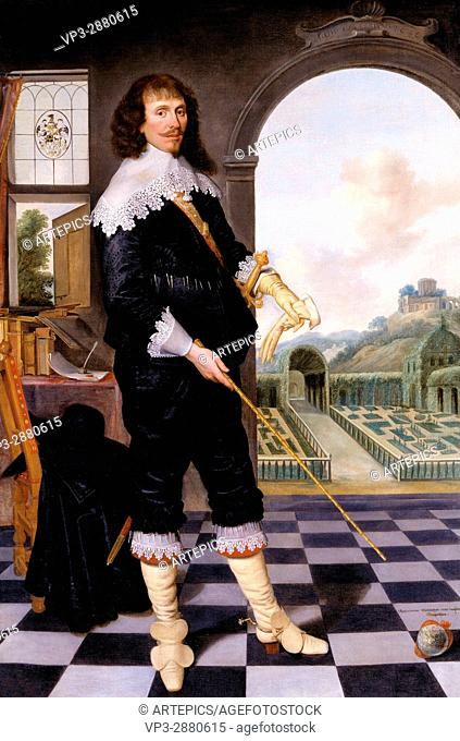 School 17th century - Portrait of William Style of Langley