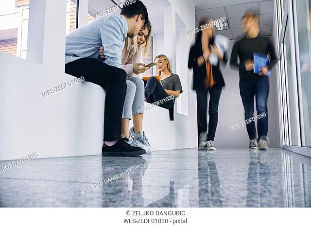 Group of students in hallway