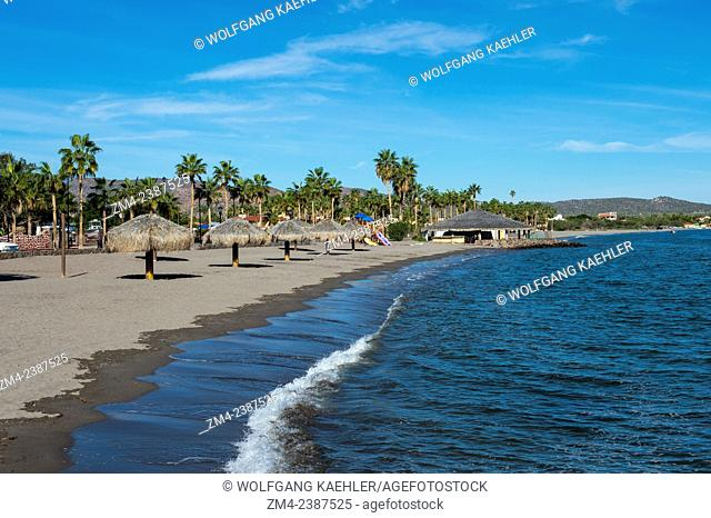 One of the beaches of the town of Loreto, Sea of Cortez, Baja California, Mexico