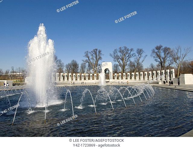Washington DC, USA: The National World War II Memorial on the Mall