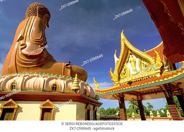 Wat Machimmaram Sitting Buddha, Wat Machimmaram Temple, Kelantan, Malaysia. Known as sitting buddha. It reminds me of Hong Kongâ