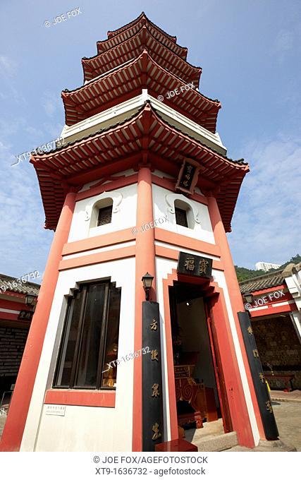 temple pagoda po fook hill cemetery sha tin new territories hong kong hksar china asia