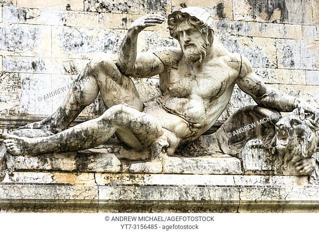 Fountain of the Adriatic Sea (Fontana dell'Adriatico) at the Monument to Vittorio Emanuele II, Piazza Venezia, Rome, Italy