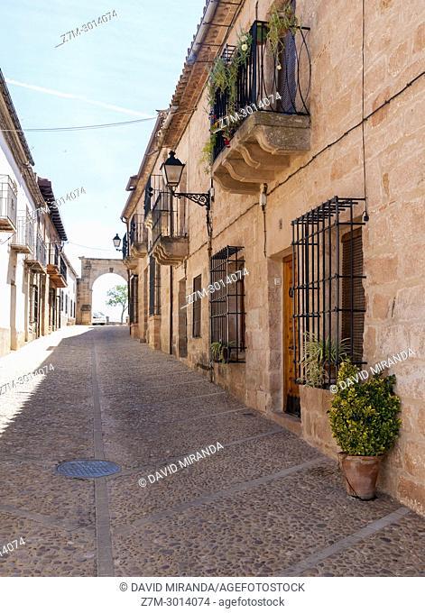 Calle Santa María. Baños de la Encina. Jaén. Andalusia. Spain