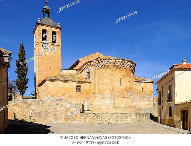 Romanesque church of San Miguel Arcángel in Caltojar. Soria province. Castilla y Leon. Spain