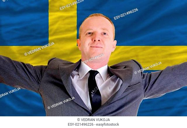 happy businessman because of profitable investment in sweden sta